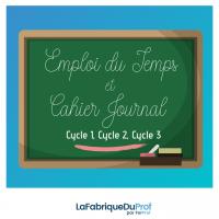 Animation pédagogique Emploi du temps et Cahier journal La Fabrique du Prof